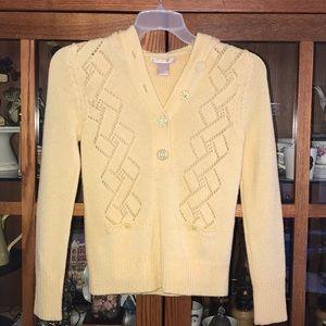Rebecca Taylor yellow sweater